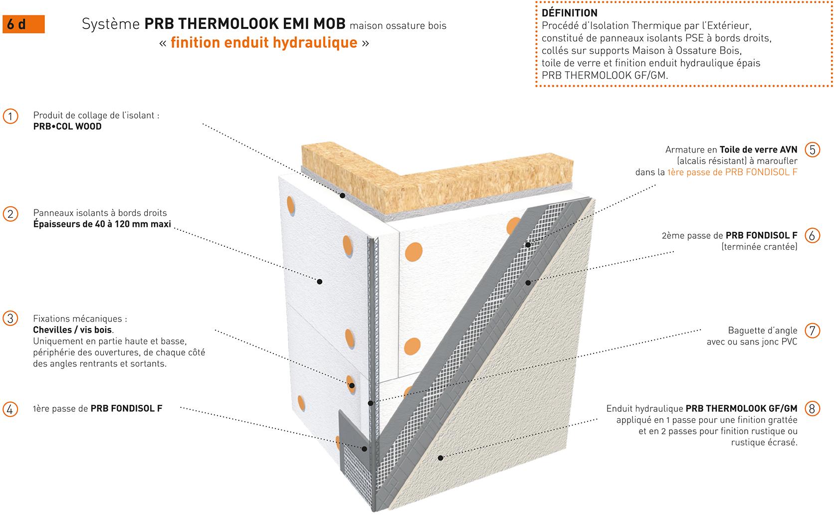 Syst me prb thermolook emi mob variante finition enduit hydraulique - Type d enduit exterieur ...