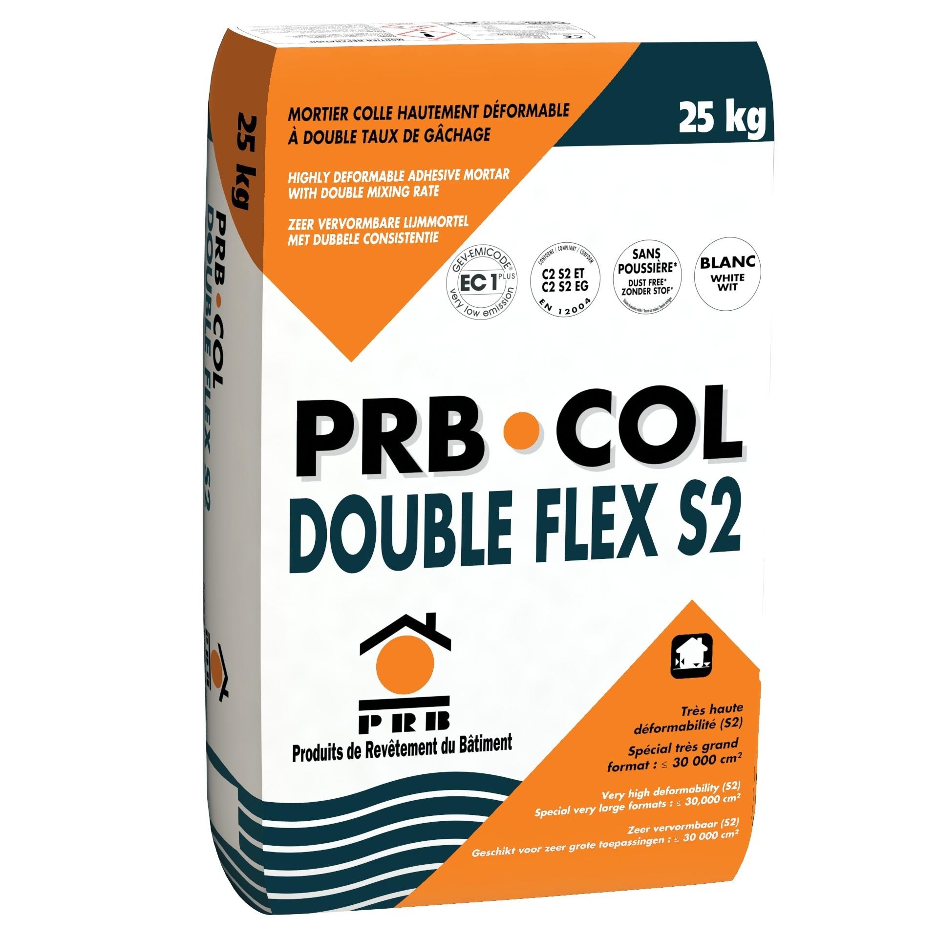 PRB COL DOUBLE FLEX S2 25 KG BLANC