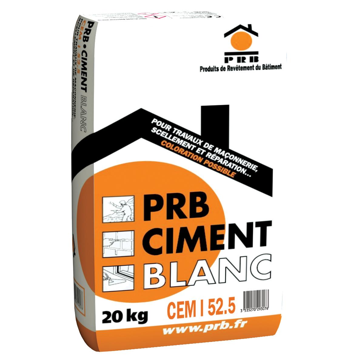 PRB CIMENT BLANC 20 KG