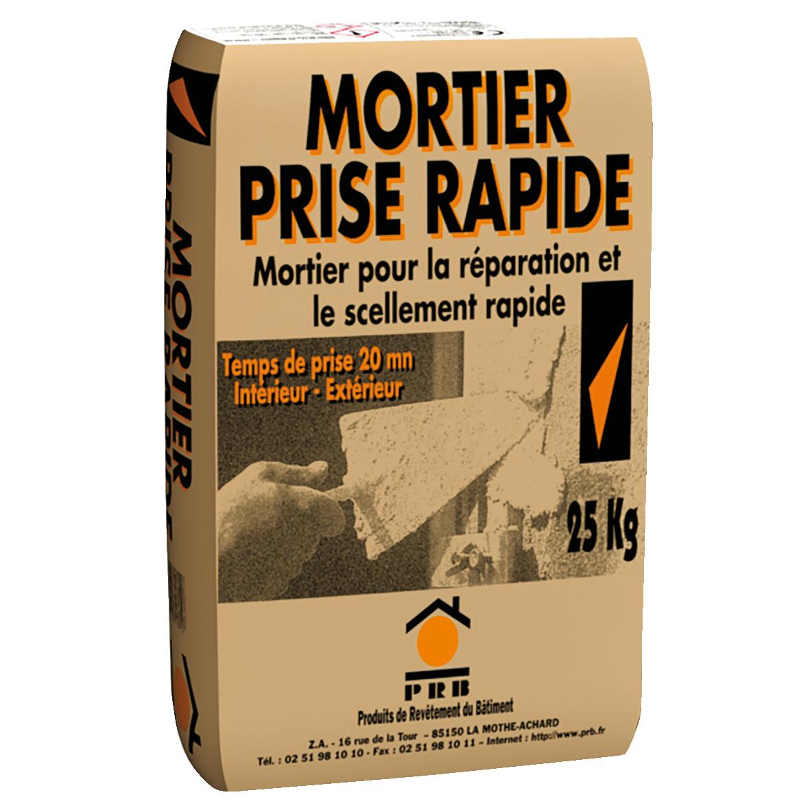 PRB MORTIER PRISE RAPIDE 25 KG