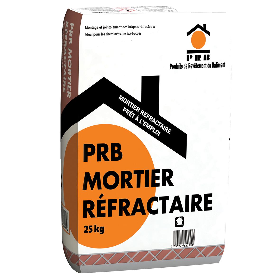 PRB MORTIER REFRACTAIRE 25 KG